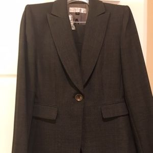 Tahari Black Tweed Pantsuit